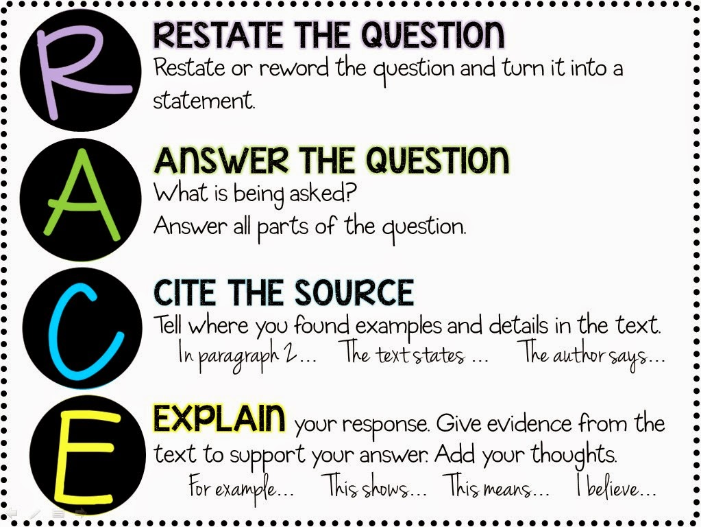 Printables Constructed Response Worksheets r a c e methodconstructed response and citing textual evidence evidence