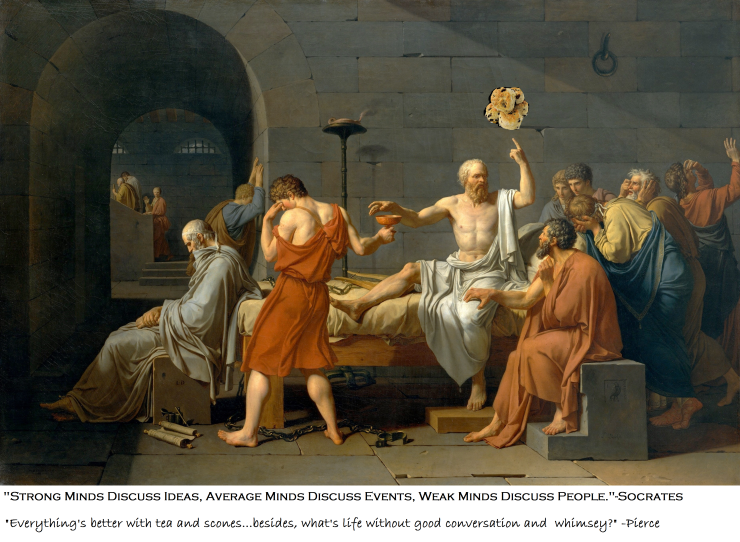 Look at how excited and awe-struck these guys are over Socrates and his floating scones - just think, you could be this excited too!