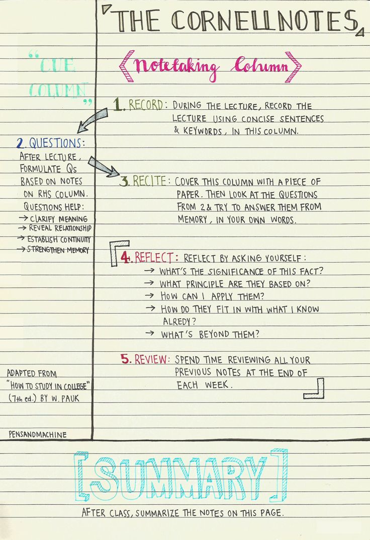 Notetaking: Cornell Notes – English With Mrs. Pierce