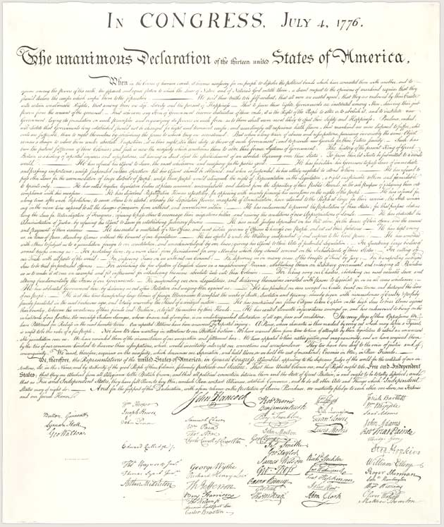 th grade american literature english mrs pierce the declaration of independence